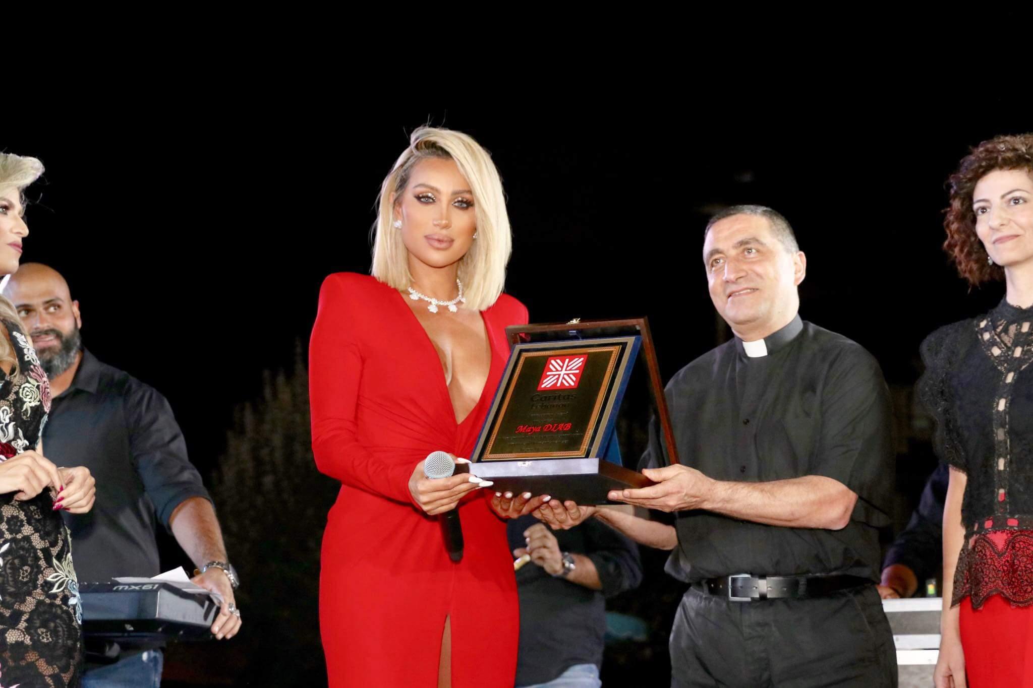 مايا دياب احيت العشاء السنوي لمؤسسة كاريتاس اقليم البقاع الغربي وراشيا