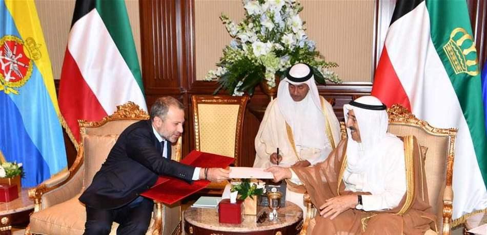 باسيل يلتقي أمير الكويت ضمن جولته العربية وهذا ما اتفقا عليه