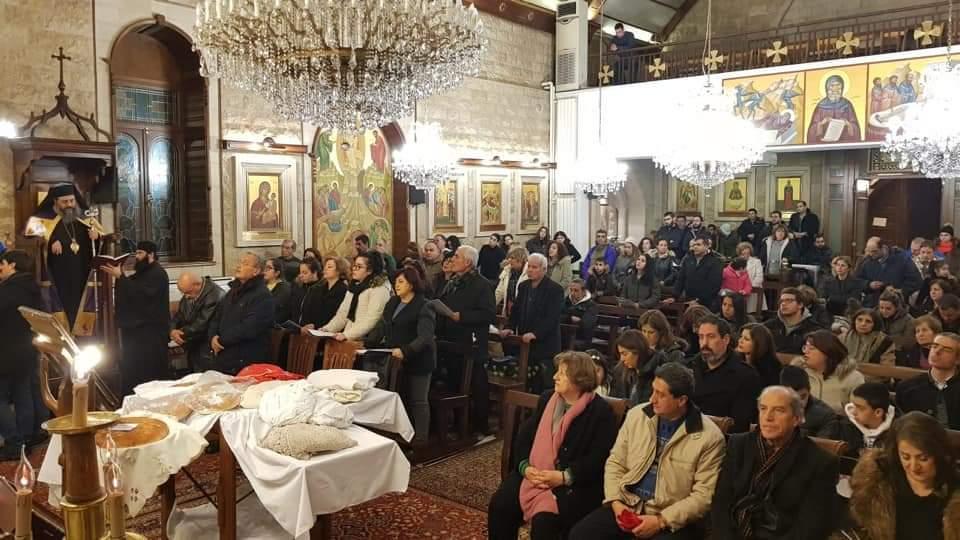 الصوري يترأس صلاة الغروب عشية عيد القديس أنطونيوس الكبير