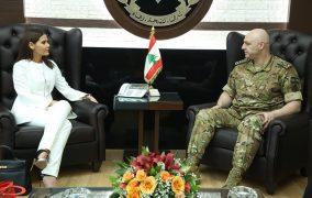جعجع زارت قائد الجيش: دعمنا ثابت للمؤسسة العسكرية