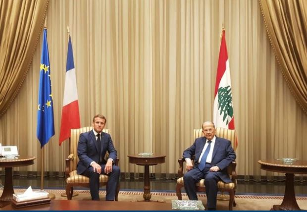 ماكرون: لن نترك لبنان وحيداً